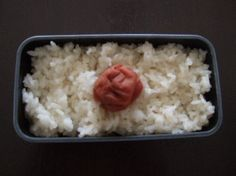 Pickled plum on rice – Another name is  Japanese national flag bento.