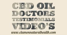 CBD Oil Video Testimonials of founder and Doctors