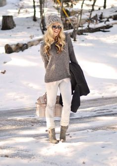 white and gray for winter