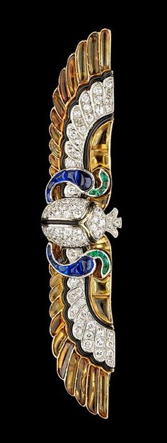 Cartier diamond brooch Length: 4 cm, about 1920