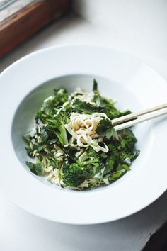 Ginger Scallion Noodles by Suvi Sur le Vif. Recipe by David Chang featured in Saveur (http://www.saveur.com/article/Recipes/Ginger-Scallion-Noodles)
