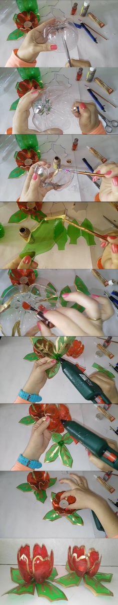 Ingenioso reciclaje: Faroles de botellas de plástico