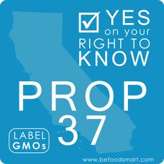 The Right To Know Initiative doesn't condone or condemn GMO foods, it simply seeks to compromise by allowing the food system to carry on with business as usual while giving consumers clear labeling so they can decide whether or not they want to buy and consume GMO foods.