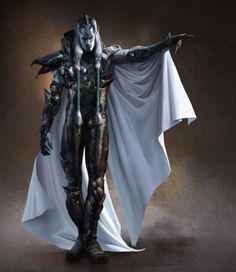Drow weaponsmaster in White Piwafwi cloak? Awesome Concept Art by Marko Djurdjevic