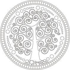 Plantillas gratuitas para hacer tu árbol genealógico Mandala Art, Mandala Stencils, Mandala Pattern, Zentangle Patterns, Mosaic Patterns, Embroidery Patterns, Mandala Coloring, Colouring Pages, Adult Coloring Pages