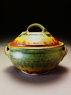Casserole-2Qt.-rust green glaze C2qtr by David Voll Pottery, via Flickr