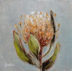 A gallery of daily painting by Heidi Shedlock Protea Art, Australian Native Flowers, Acrylic Painting Flowers, Art For Art Sake, Art Club, Types Of Art, Painting Techniques, Pin Cushions, Flower Art