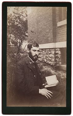 ca. 1880, [Portrait of Kenyon Cox reading] via the Smithsonian Institution, Archives of American Art, Allyn Cox papers