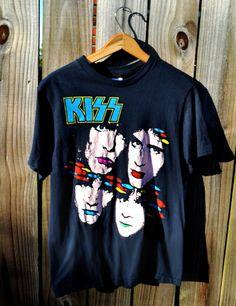 Vintage KISS 1985 Asylum World Tour Concert Tshirt