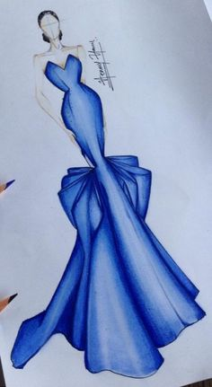 56 trendy fashion drawing dresses blue fashion drawing 40 trendy fashion illustration sketches back haute couture Dress Design Sketches, Fashion Design Sketchbook, Fashion Design Drawings, Fashion Sketches, Croquis Fashion, Fashion Drawing Dresses, Fashion Illustration Dresses, Drawing Fashion, Fashion Illustrations