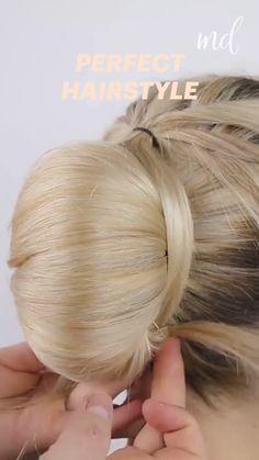 Bun Hairstyles For Long Hair, Braided Hairstyles, Thin Hair Updo, Summer Hairstyles, Hair Style Vedio, Hair Upstyles, Hair Videos, Hair Designs, Hair Hacks