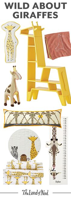 Living with kids can sometimes feel like a zoo. So why not give any kids bedroom or playroom a wild touch with some giraffe animal décor?