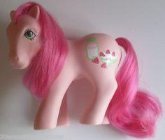 My Little Pony G1 pony Strawberry Surprise Sweetberry pony MLP HTF VG 1987