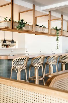 This is an example of commercial design because the space was designed for a welcoming restaurant. Tree Interior, Cafe Interior Design, Commercial Interior Design, Cafe Design, Commercial Interiors, Interior Architecture, Brewery Interior, Resturant Interior, Pastel Interior