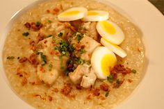Google Image Result for http://www.filipinorecipe-tv.com/images/94.jpg    Chicken arroz caldo is best served with chicken and egg!