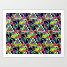 Honeycomb1 B Art Print by K Shayne Jacobson - $18.72