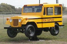 Jeep Short Bus....Here is a school bus for parents to pick up and drop off their kids at school....
