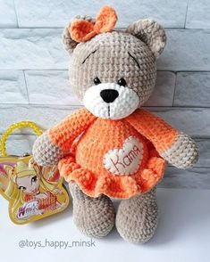 Crochet bear with bow amigurumi – Free Amigurumi PatternsYou can find Crochet bear and more on our website.Crochet bear with bow amigurumi – Free Amigurumi Patterns Crochet Baby Toys, Crochet Bunny, Crochet Dolls, Amigurumi Patterns, Crochet Amigurumi Free Patterns, Crochet Teddy Bear Pattern Free, Amigurumi Doll, Free Crochet, Tutorial Amigurumi