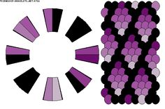 Kumihimo - shades of purple K766 - friendship-bracelets.net