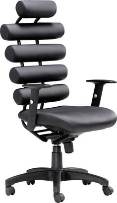 Zuo Modern 205050 Unico Office Chair Color Black Painted Metal Finish