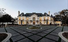French Chateau style mansion, Dallas, Texas
