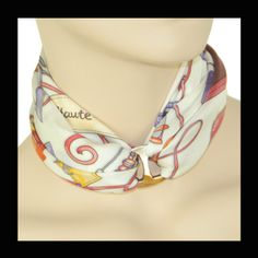 ANNE TOURAINE Paris™: MEDIUM SCARF RING - BROWN MOTHER OF PEARL -