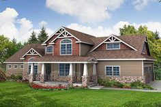 Architectural Designs House Plan 72506DA - so much to like... bonus room, 2-story great room, attractive gables with decorative brackets.