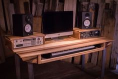 Mid Size 61 key Studio Desk for Audio / Video / Music / Film / Production