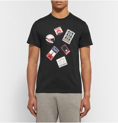 Designed exclusively for MR PORTER. Part of Maison Kitsuné's travel-inspired capsule, this cotton-jersey T-shirt is perfect for those with wanderlust. It's cut slim and printed with luggage sticker-style graphics that showcase some of the brand's flagship store locations - including Paris, New York and Hong Kong.