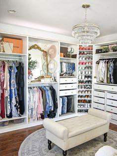 Master Closet Design, Walk In Closet Design, Master Bedroom Closet, Closet Designs, Wardrobe Design, Spare Room Walk In Closet, Master Closet Layout, Shoe Storage Master Closet, The Closet