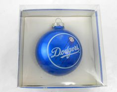 Vintage Dodgers glass Christmas ornament by VintageHillbillies
