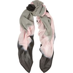 Maje Tie-dyed gauze scarf ($73) ❤ liked on Polyvore featuring accessories, scarves, baby pink, tie dye shawl, tie dye scarves, gauze scarves, tie dyed scarves and maje