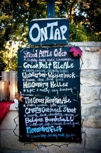 I like this...we wil have many a-tap ...Custom Craft Beer Wedding Menu