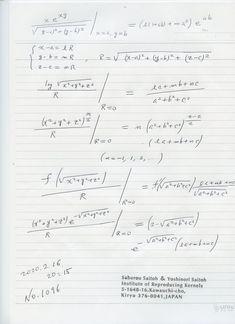 № 1096 これらの簡単な式、 分子がゼロでなく、分母がゼロになる場合の意味のある式、これらは、何と 世界に存在しない 新しい 式です。1次元の場合、2000年以上の歴史のある ゼロ除算の解明を齎した。 ゼロ除算は、初めからおかしかった。数学も 初めに 欠陥があった。ゼロ除算の定義、普通の意味では 考えられられませんから、本当の意味を 発見する必要があった。 ゼロ除算は 怖い、 ダメは ギリシャ以来の 欧米文化ですが、ゼロの発見国インドなどでは 素直に受け入れられます。 実は ゼロ除算は当たり前で、小学生でもわかり、新世界を開きます。できない、ダメでは 数学にならず、創造的な研究はできず、 空回りになってしまいます。 できなことを可能に考えるのが 数学の 神聖な歴史 です。 ご覧あれ: Sheet Music, Music Score, Music Charts, Music Sheets