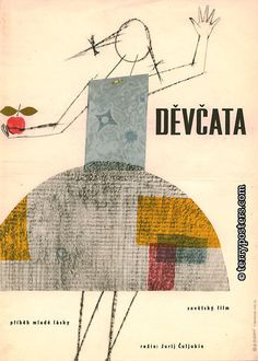 This Czech film poster is immensely appealing to me! Anybody know the designer/illustrator? via Terry Posters