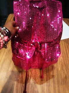 Cute Bling Hot Pink Sequins Backpacks for Girls