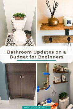 Save money with these beginner friendly bathroom updates on a budget! Don't pay someone to update your space when you can easily do it yourself. #bathroomreno #bathroomupdate #diyprojects… More