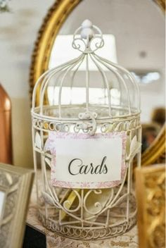 Bridal shower card cage