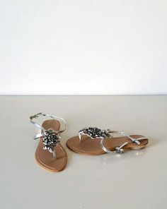Loje Silver Sandals