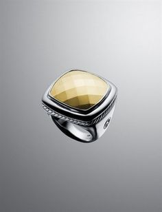 David Yurman Faceted Gold Albion Ring