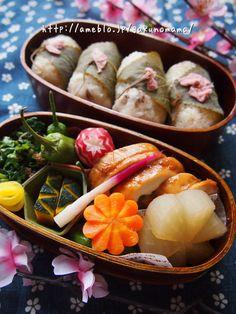 Japanese Sakura Sushi Bento Lunch