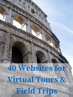 "After several thousand hits on this post, I decided to update and expand this list of virtual tours and field trips from 25 to 40 websites. Enjoy! Virtual tours and field trips provide students with opportunities they may not get to experience otherwise. Where else can you ""take a trip"" to see Sistine Chapel, the bottom of the Pacific Ocean, or the African grasslands — all in one day?"