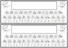 Alphabet and numbers desk strip