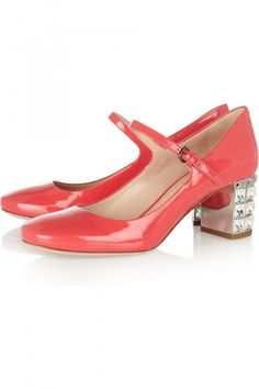 Miu Miu, patent leather Mary Jane pumps, $895, net-a-porter.com
