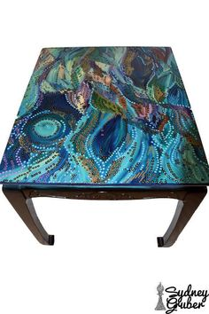 Hand-Painted  Acrylic Functional Art abstract art Vibrant Painted furniture