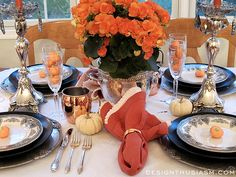 """Every year at this time, I take up the challenge of creating a Halloween table setting that reads """"Halloween"""", yet embodies some class."""
