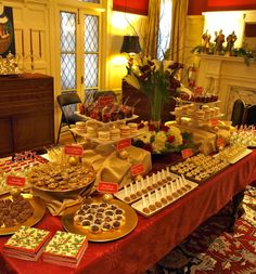 holiday dessert table                                                                                                                                                                                 More