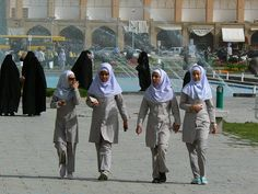 Schoolgirls in Isfahan. Read more: http://www.imperatortravel.com/2012/10/iran-discovering-the-traces-of-old-persia-in-the-islamic-republic-the-imam-square-in-isfahan-episode-7.html