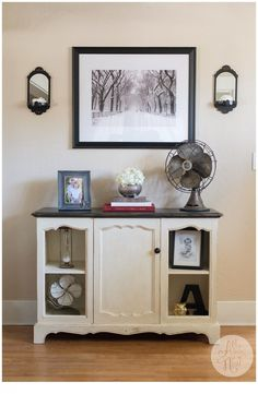 All Things New | Black and Cream Media Console/Buffet | http://allthingsnewblog.co