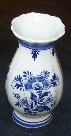 tulip vase. Can't visit Holland and not get a piece of blue delft. Mine is smaller but looks like this.